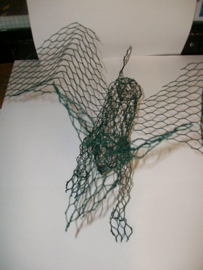Chicken wire workshop south wigston high school for Chicken wire sculptures uk